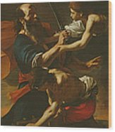 The Sacrifice Of Isaac, 1613 Oil On Canvas Wood Print