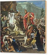 The Sacrifice Of Jephthahs Daughter Wood Print