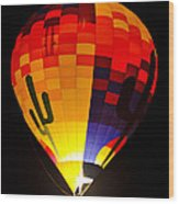 The Saguaro Balloon  Wood Print