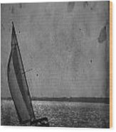 The Sailboat Wood Print