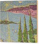 The Sailing Cove Wood Print