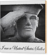 The Sailors Creed Wood Print