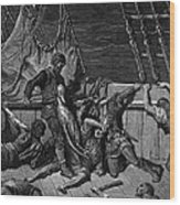 The Sailors Curse The Mariner Forced To Wear The Dead Albatross Around His Neck Wood Print