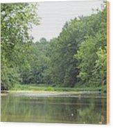 The Salt Fork River Wood Print