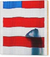 American Flag Salute Wood Print