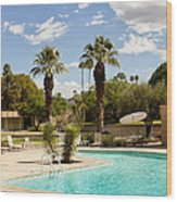 The Sandpiper Pool Palm Desert Wood Print