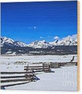 The Sawtooth Mountains Wood Print