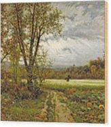 The Scarecrow Wood Print