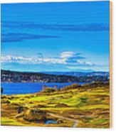 The Scenic Chambers Bay Golf Course Iv - Location Of The 2015 U.s. Open Tournament Wood Print by David Patterson