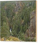 The Scenic Cheakamus River Gorge Wood Print