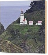 The Scenic Lighthouse Wood Print