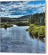 The Scenic Moose River Wood Print