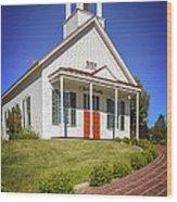 The Schoolhouse Wood Print