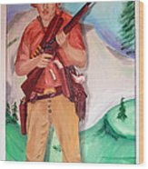 The Scout Portrait Of The Artist At Age 24 Wood Print