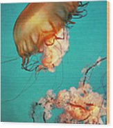 The Sea Ballet Wood Print