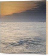 The Sea Before The Rain Wood Print