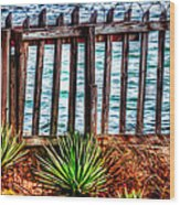 The Sea Fence Siesta Key Fla. Wood Print
