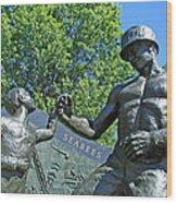 The Seabees At Arlington Wood Print