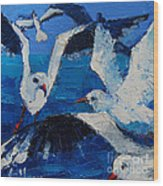 The Seagulls Wood Print