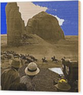 The Searchers   Cast And Crew Monument Valley Arizona 1956 Wood Print