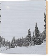 The Season Of White Wood Print