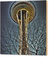 The Seattle Space Needle Iv Wood Print