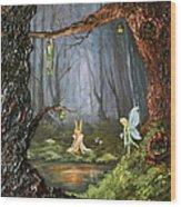 The Secret Forest Wood Print