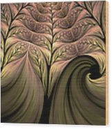 The Secret World Of Plants Abstract Wood Print