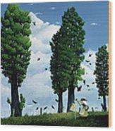 The Seeds Wood Print by Stephane Poulin