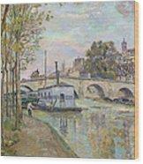 The Seine In Paris  Wood Print