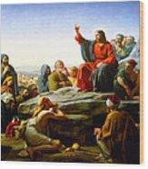 The Sermon On The Mount  Wood Print