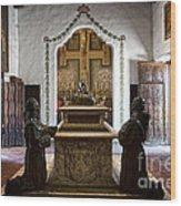 The Serra Cenotaph In Carmel Mission Wood Print
