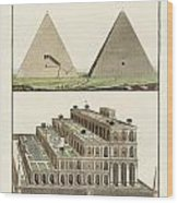 The Seven Wonders Of The World Wood Print by Splendid Art Prints