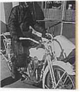 The Shadow Of The Eagle Homage 1932 Jack Wilson Stuntman Globe Arizona 1969 Wood Print