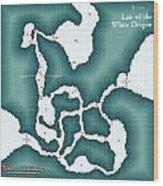 The Shadowed Keep White Dragon Lair Wood Print