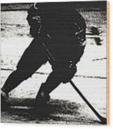 The Shadows Of Hockey Wood Print