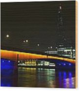 The Shard And London Bridge Wood Print