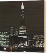 The Shard And Southbank London Wood Print