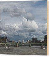 The Shard And The Thames At Southwark Wood Print