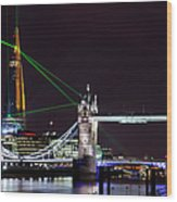 The Shard Skyscraper Opening Laser Wood Print