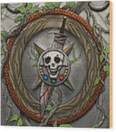 The Shattered Skull Wood Print