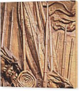 Saint Gaudens -- The Shaw Memorial's Left Side Wood Print