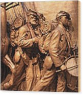 Saint Gaudens -- The Shaw Memorial's Right Side Wood Print