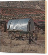 The Sheep Wagon Wood Print