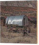The Sheep Wagon Wood Print