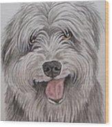 The Sheepdog Wood Print