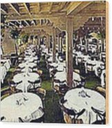 The Ship Cafe Dining Room In Venice Ca 1910 Wood Print