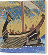 The Ship Of Odysseus Wood Print