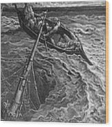 The Ship Sinks But The Mariner Is Rescued By The Pilot And Hermit Wood Print