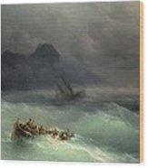 The Shipwreck Wood Print by Ivan Konstantinovich Aivazovsky